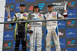 invitaion class podium from left: Marco Wittmann Roberto Merhi and Laurens Vanthoor