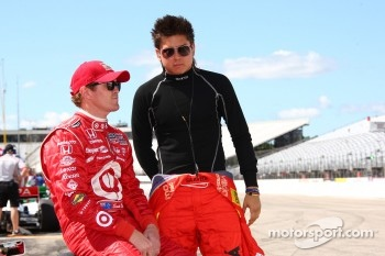 Scott Dixon, Target Chip Ganassi Racing and Sebastian Saavedra, Conquest Racing