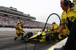 Pit stop for Ed Carpenter, Sarah Fisher Racing