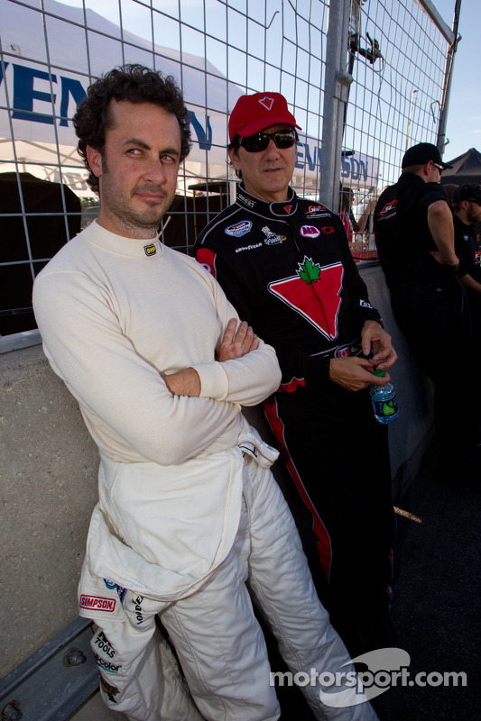 Michel Jourdain, Roush-Fenway Ford and Ron Fellows, Hendrick Motorsport Chevrolet