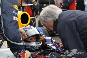Sebastian Vettel, Red Bull Racing and Bernie Ecclestone