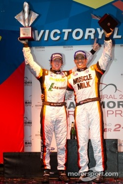 LMPC podium: class winners Kyle Marcelli and Tomy Drissi
