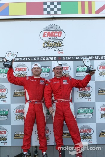 DP podium: class and overall winners Ryan Dalziel and Enzo Potolicchio