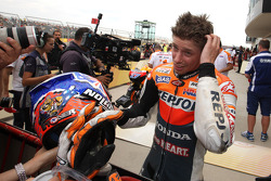 Pole winner Casey Stoner, Repsol Honda Team