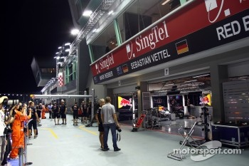 The Red Bull garage