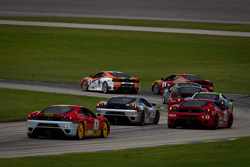 F430 start: #26 Ferrari of Ft. Lauderdale Ferrari F430 Challenge: Juan Hinestrosa and #4 Ferrari of Silicon Valley Ferrari F430 Challenge: Chris Ruud battle for the lead