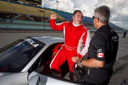 Pole winner #777 Ferrari of Québec Ferrari 458 Challenge: Emmanuel Anassis