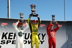 Podium: winner Ed Carpenter, Sarah Fisher Racing