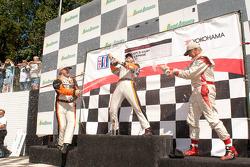GT3 Cup Platinum Class Podium: Carlos Kauffmann, Henrique Cisneros, Rob Walton