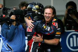 Sebastian Vettel, Red Bull Racing and Christian Horner, Red Bull Racing, Sporting Director