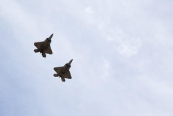 F-22 Raptors fly-over
