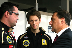 Eric Boullier, Team Principal, Lotus Renault GP, Romain Grosjean, French Minister of Industry, Energy and Digital Economy