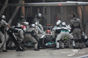 Schumacher got ahead of Rosberg after his last pit stop