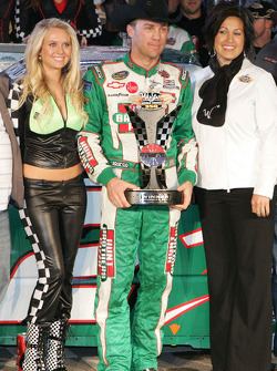 Kevin Harvick celebrates his win