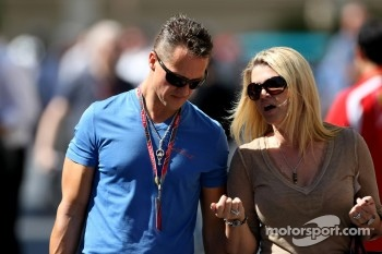 Michael Schumacher, Mercedes GP and his wife Corina