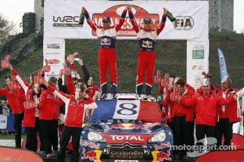 Sbastien Loeb and Daniel Elena, Citron DS3 WRC, Citron Total World Rally Team celebrate 8 WRC championships