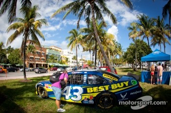 NASCAR Championship Drive in South Beach: car of A.J. Allmendinger, Richard Petty Motorsports Ford on display