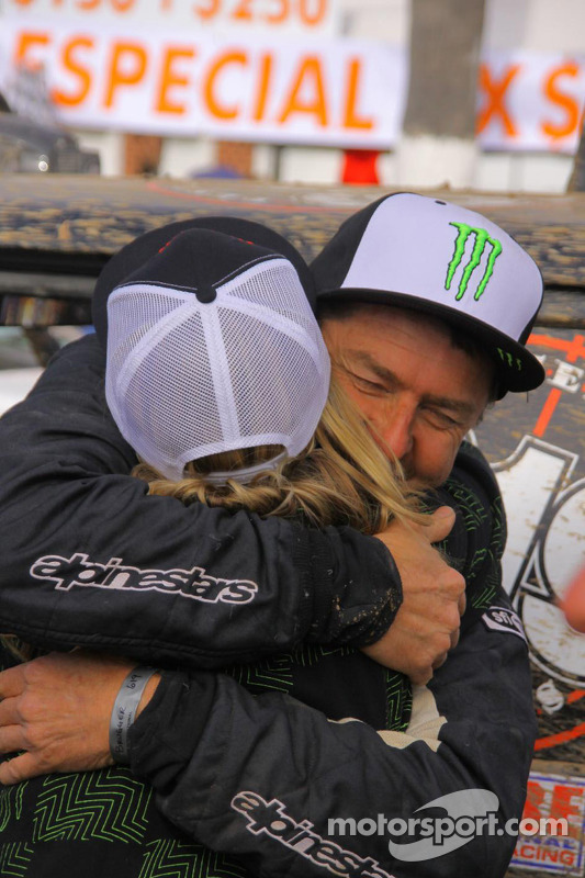 Rene Brugger and Heidi Steele at the finish