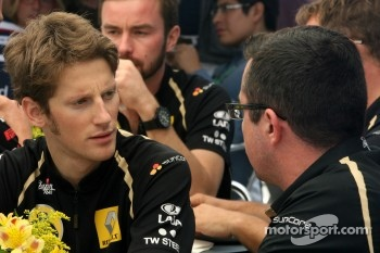Romain Grosjean, Team Principal, Lotus Renault GP