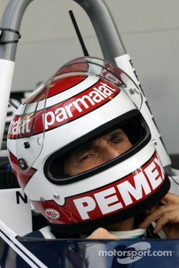 Nelson Piquet, drives the Brabham BT49