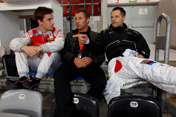 Filipe Albuquerque, Tom Kristensen and Andy Priaulx