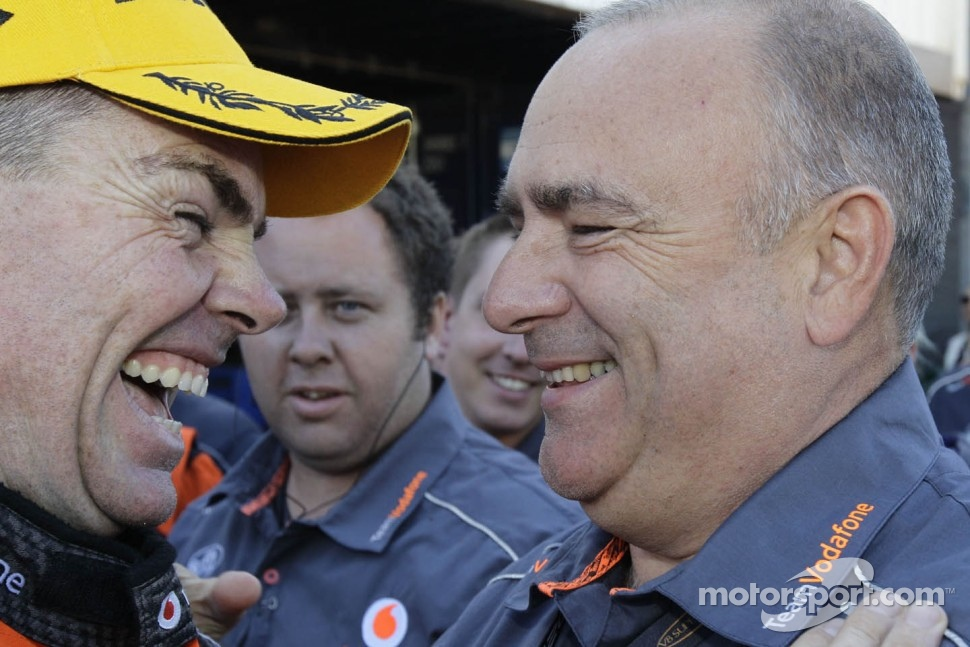 Race winner Craig Lowndes with team owner Roland Dane