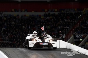 Travis Pastrana for the USA team in 2011 Race of Champions