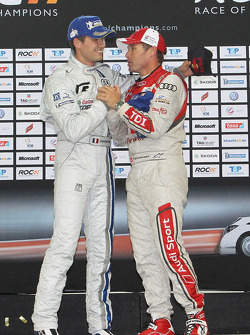 Podium: winner Sébastien Ogier and Tom Kristensen