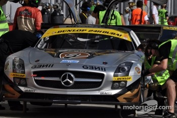 #15 Gravity Racing International Mercedes SLS AMG GT3: Vincent Radermecker, Loris de Sordi, Eric Lux, Gerard Lopez, Tomas Enge