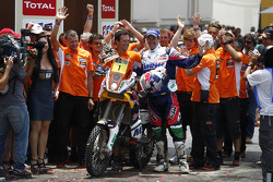 Podium: second place in Bike category Marc Coma