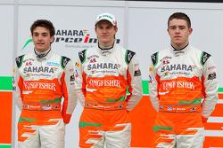 Nico Hulkenberg, Jules Bianchi and Paul di Resta