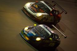#65 TRG Porsche GT3: Joe Castellano, Spencer Cox, Mike Hedlund, Jack McCarthy, Jim Michaelian, #55 Acumen Motorsport Porsche GT3: Frank Del Vecchio, Doug Grunnet, Scott McKee