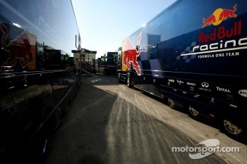Red Bull Racing trucks