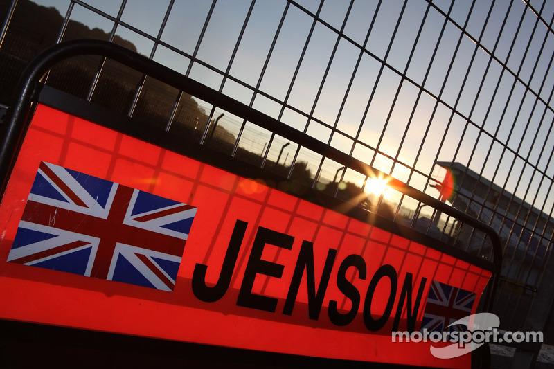 Jenson Button, McLaren Mercedes pit board