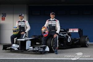 Bruno Senna, Williams F1 Team and Pastor Maldonado, Williams F1 Team