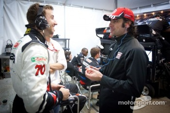 James Hinchcliffe and Dario Franchitti