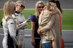 Wife of Jeff Gordon, Hendrick Motorsports Chevrolet, Ingrid Vandebosch with daugther Ella Sofia