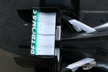 Technical detail, rear wing