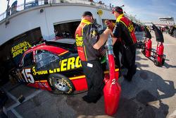 Michael Waltrip Racing Toyota team members at work
