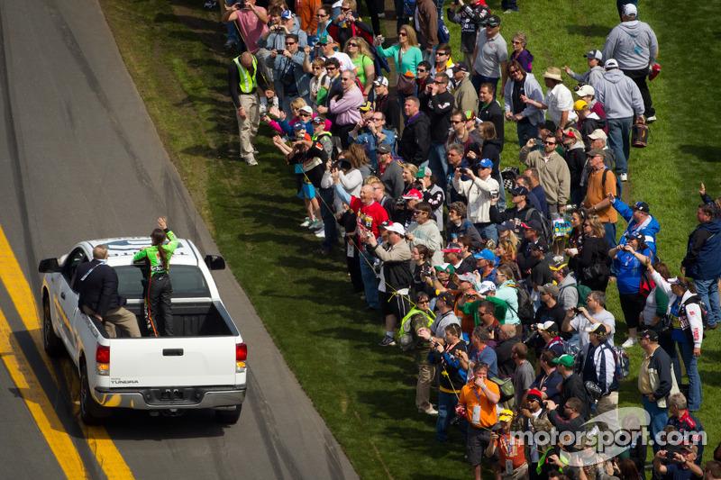 Drivers introduction: pole winner Danica Patrick, JR Motorsports Chevrolet
