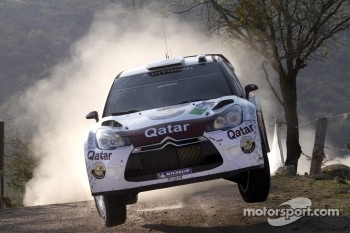 Nasser Al-Attiyah and Giovanni Bernacchini, Citron DS3 WRC, Qatar World Rally Team