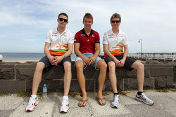 Paul di Resta, Sahara Force India Formula One Team, Jack Trengove, Australian rules football player and Nico Hulkenberg, Sahara Force India Formula One Team