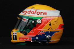 Lewis Hamilton, McLaren Mercedes helmet