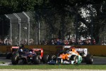 Daniel Ricciardo, Scuderia Toro Rosso and Paul di Resta, Sahara Force India Formula One Team
