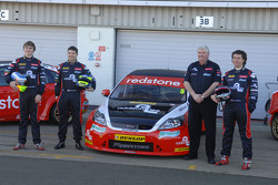 Team Boss Dave Bartrum with Liam Griffin, Mat Jackson and Aron Smith