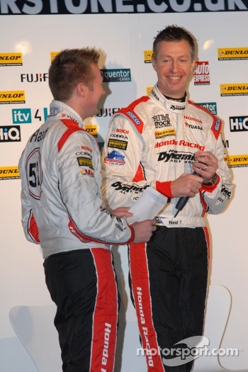 Honda Yuasa Racing Drivers Gordon Shedden and Matt Neal