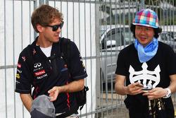 Sebastian Vettel, Red Bull Racing with a fan
