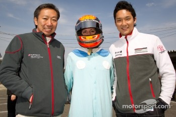 Go-kart charity event: Michael Kim, Cyndie Allemann and Tomonobu Fujii
