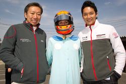 Go-kart charity event: Michael Kim, Cyndie Allemann and Tomonobu Fujii