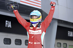 Race winner Fernando Alonso, Scuderia Ferrari celebrates after the race